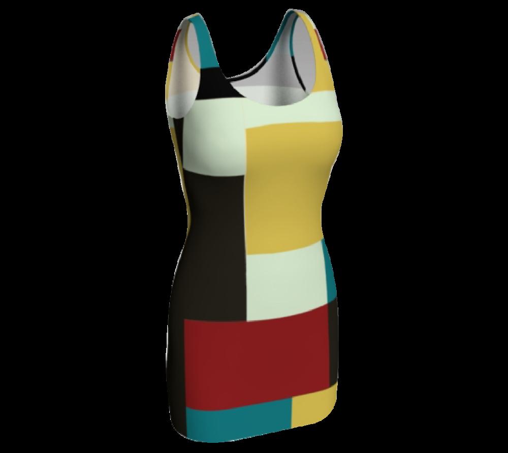Block Print Bodycon Dress #3              $65