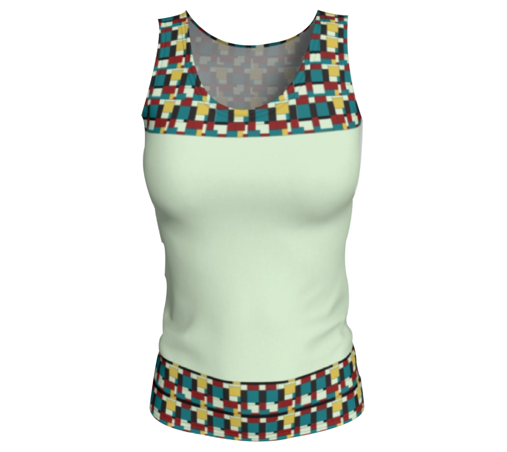 Beige Fitted Tank Top                 $28
