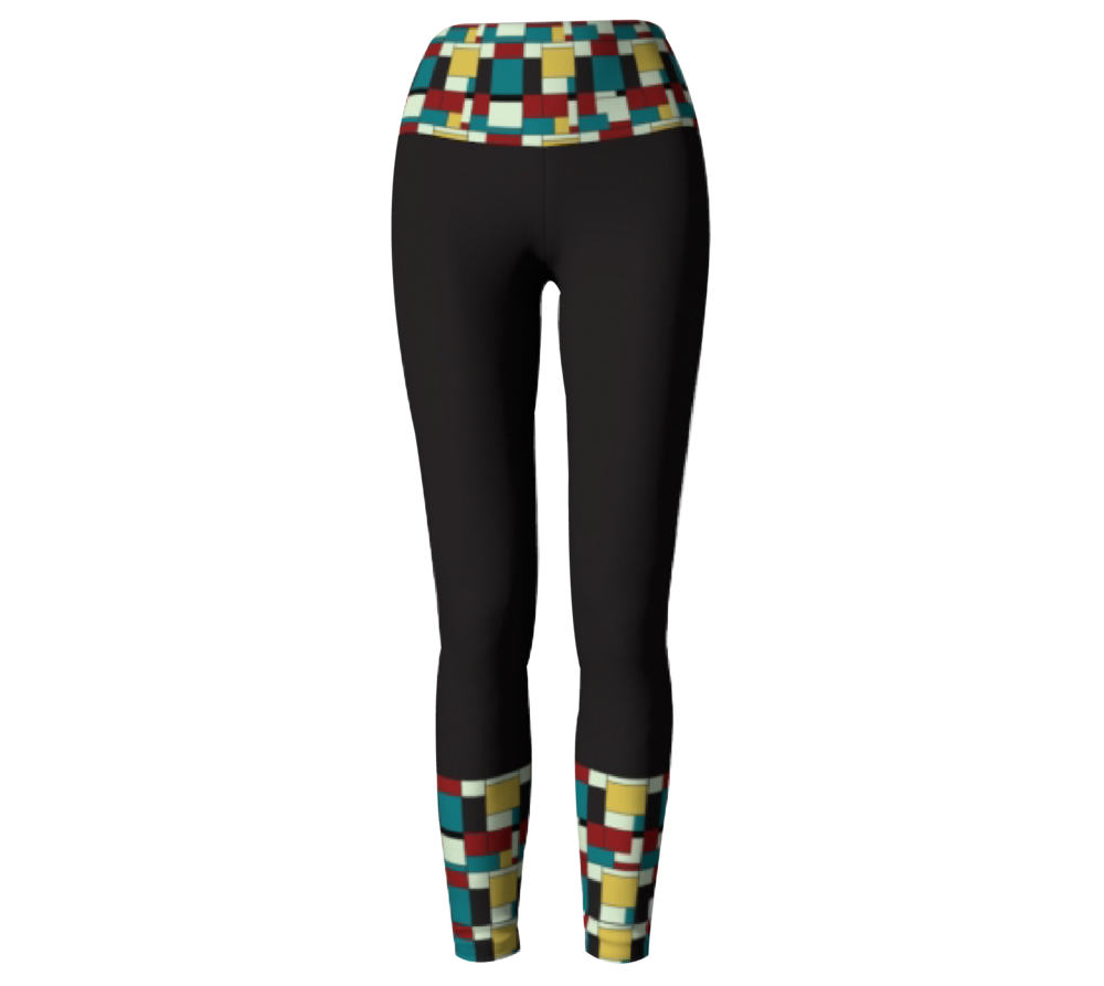 Black Block Print           Leggings $45