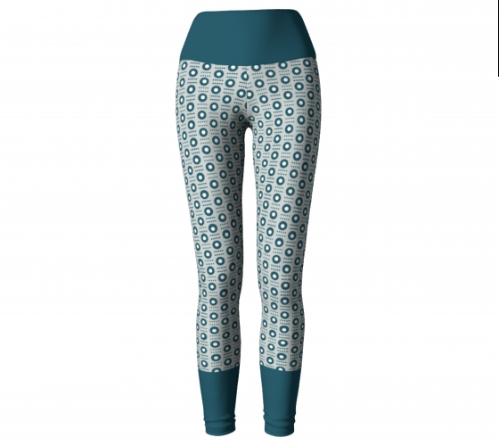 All-over Turquoise       Circle   Leggings   #5                    $45