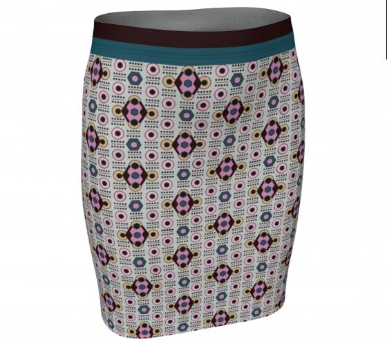 All-over Diamond Skirt  #1, $30