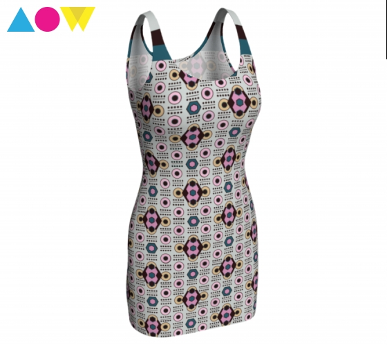 All-over Diamond Beige      Bodycon Dress #1 $65