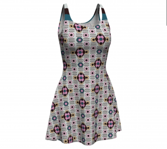 All-over Diamond Beige      Flare Dress #7 $65