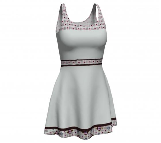 Circle Diamond   Beige       Flare Dress #5 $65