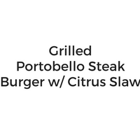 Grilled Portobello Burger with Citrus Slaw
