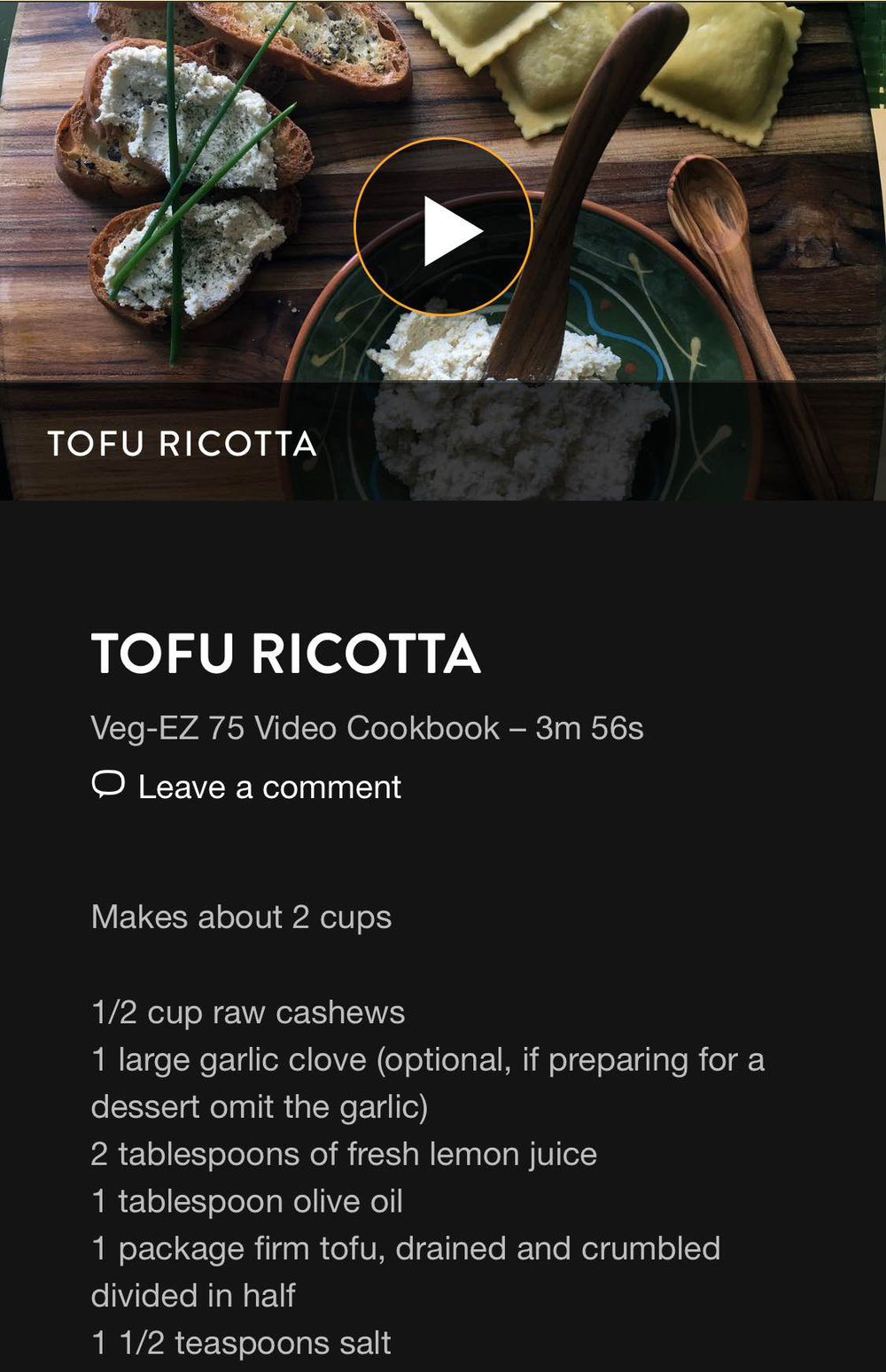 VegEZ Tofu Ticotta screenshoot.jpg