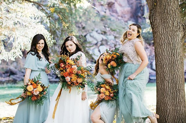 """""""This is one stone-cold pack of weirdos and I'm so proud!"""" Love these ladies!! . . . . . Venue: River Bend @lyonsfarmette Planning: @dahliaeventslyons Photographer: @annaboardman_ Florist: @plumeandfurrow  Caterer: @greenspointcatering Bartender: @greenspointcatering Band: @diamondempireband Rentals: @alleventrentals"""