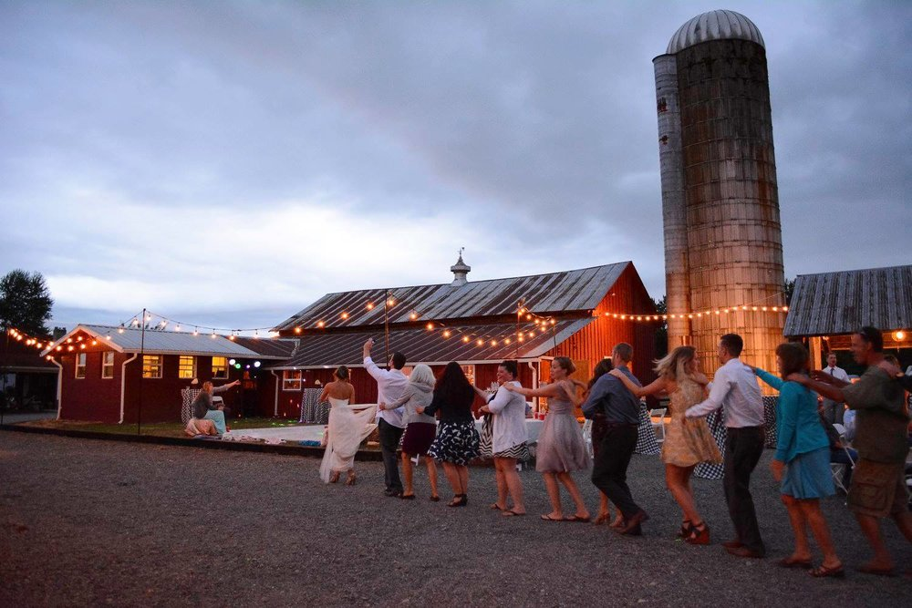 My cousin's reception at my sister's place, Simple Goodness Farm. Wedding receptions aren't currently offered, but smaller events like corporate parties and rehearsal dinners are and quieter evening events like Wedding Ceremonies are welcomed!