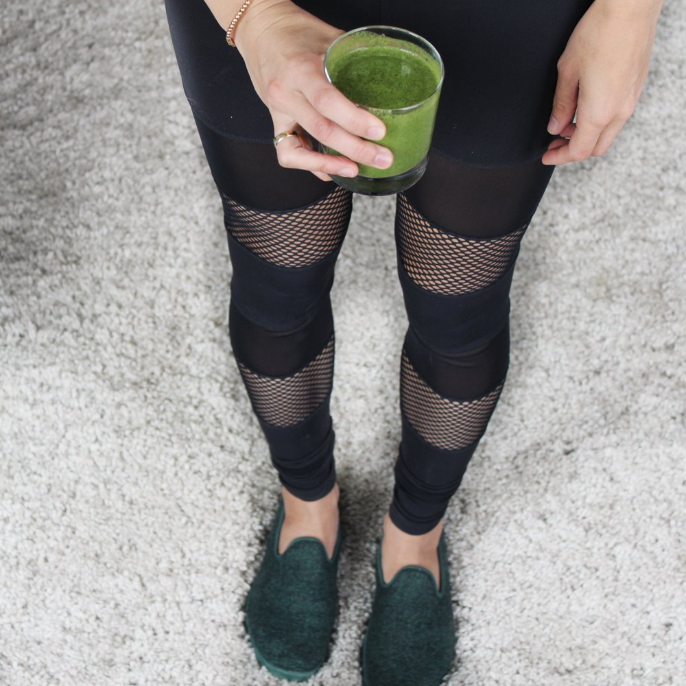 Our finished smoothie with the Misty legging.