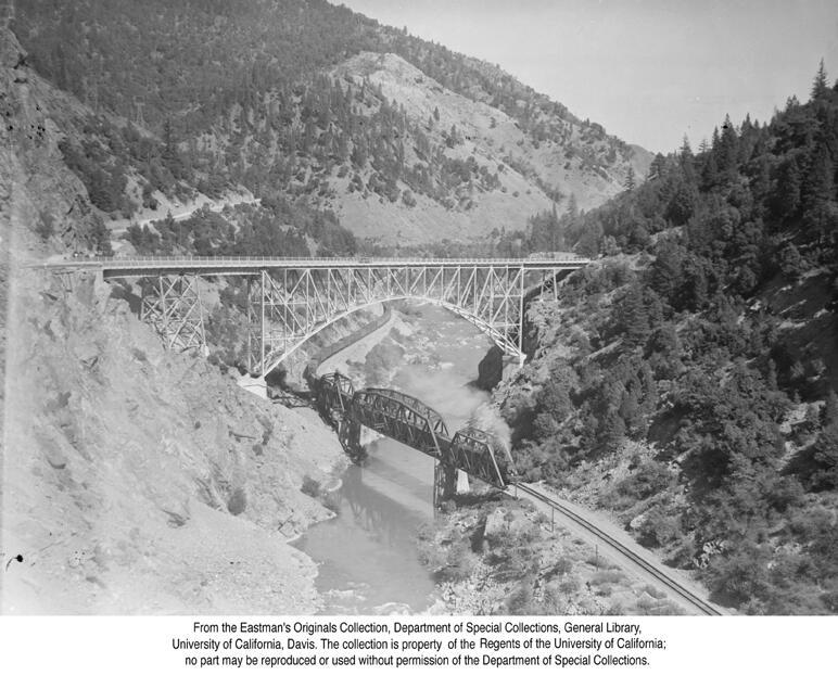 1937, Pulga Bridge, Feather River Canyon.jpg