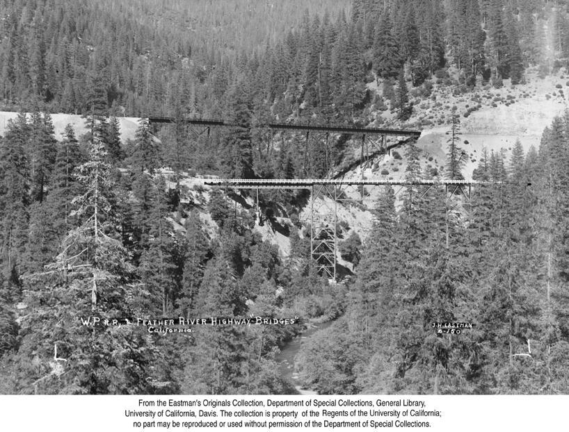 1936, Western Pacific Railroad Bridges near Quincy.jpg