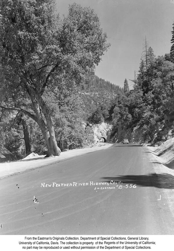 1937, New Feather River Highway at Elephant Butte.jpg
