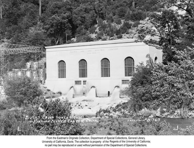 1938, Buck's Creek Power House, Feather River Canyon.jpg