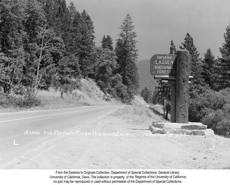 1939, Along the Feather River Highway.jpg
