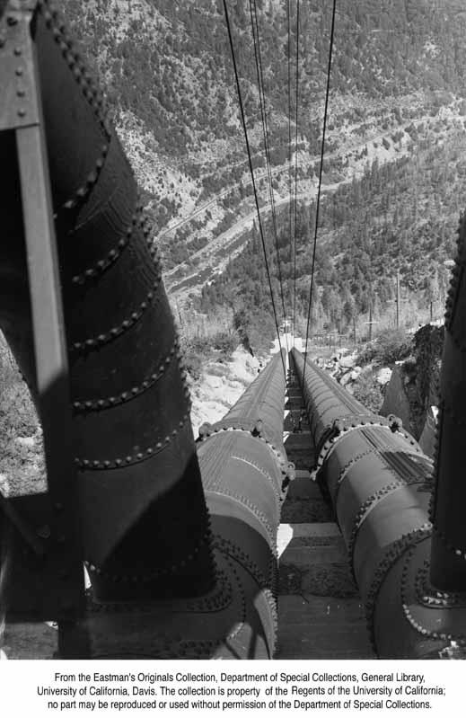 1955, Penstocks to Bucks Creek Powerhouse.jpg