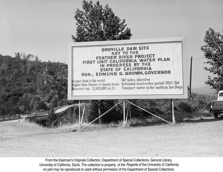 1959, Oroville Dam Site Sigh.jpg