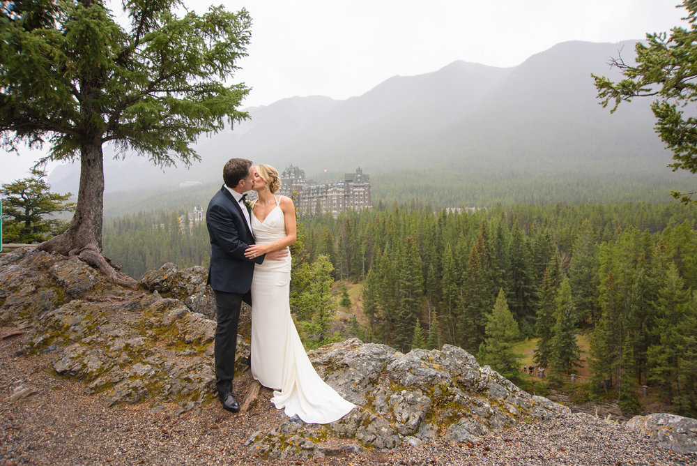banff rimrock wedding photography surprise corner