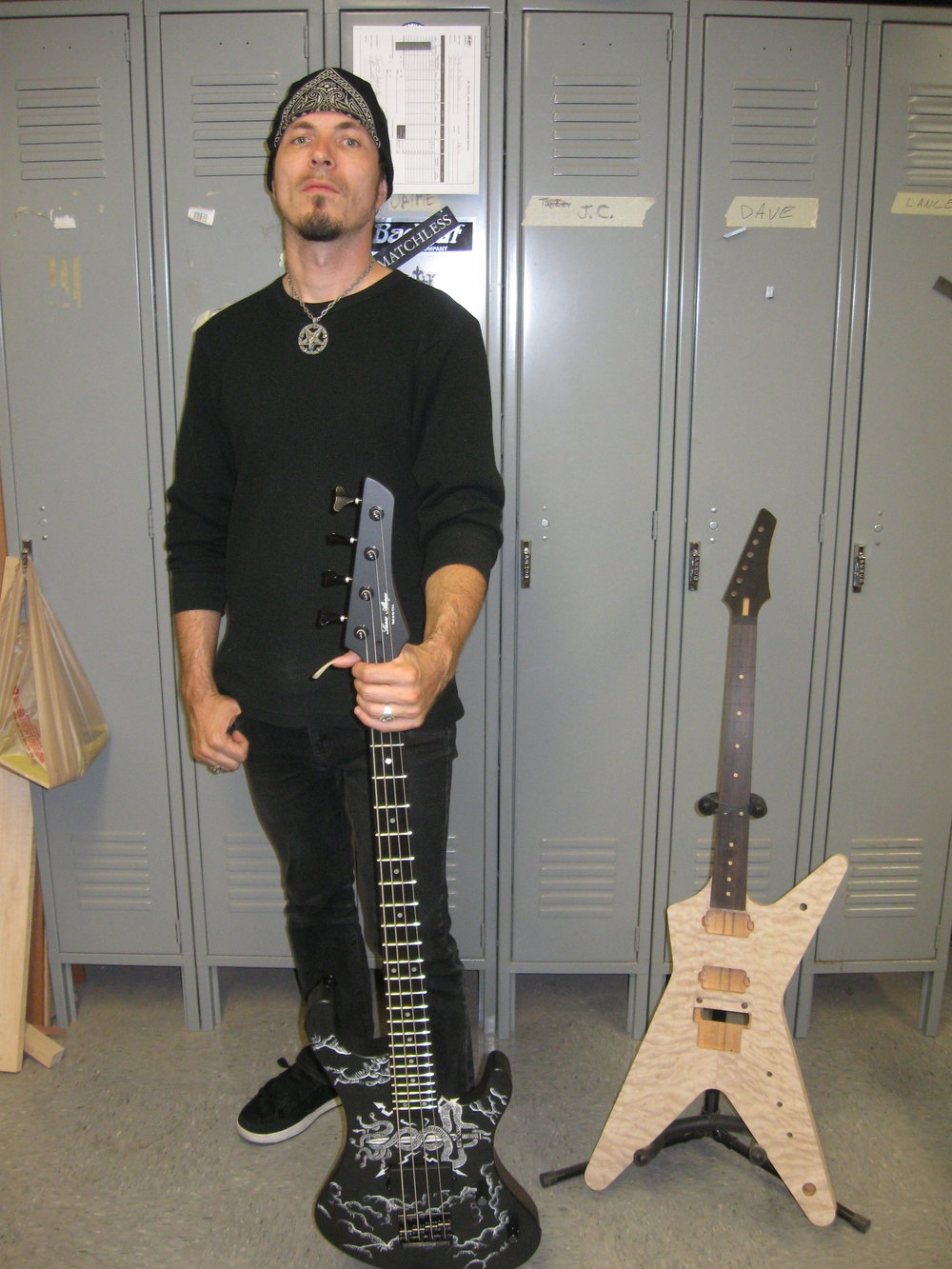 Menno Verbaten with custom bass