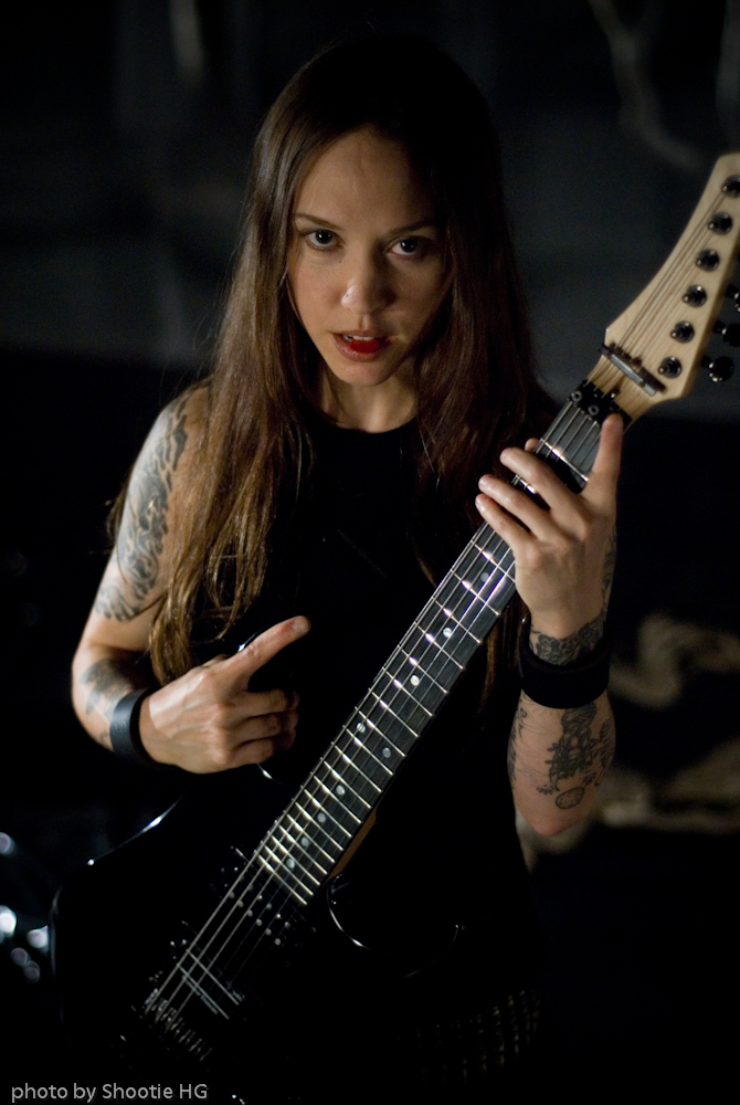 Leah Collery with custom guitar