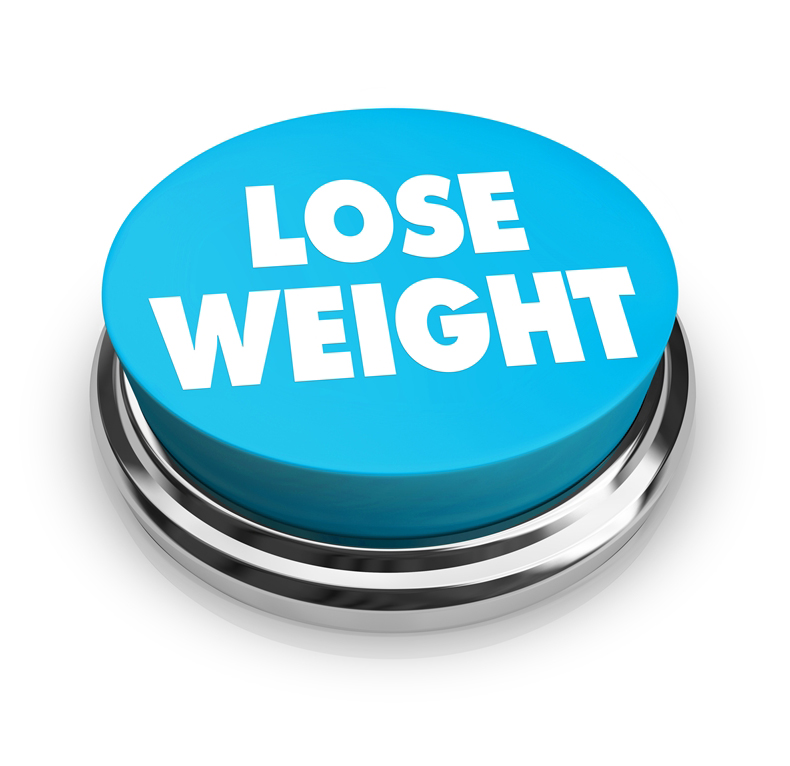 A red button with the words Lose Weight on it