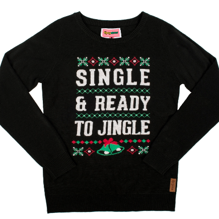 For the sexy single:Ho ho ho, 'tis this season for something naughty. This sweater is like an IRL Tinder profile—no need to swipe right.
