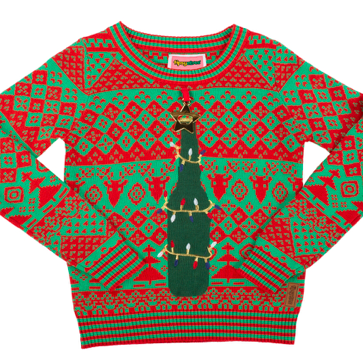For the boozin' babe: Here's a little extra Christmas beer…err, cheer! This cozy sweater comes with a built-in bottle opener, which means a) you can be lazy AF and b) you can basically invite people to cop a feel all night long.