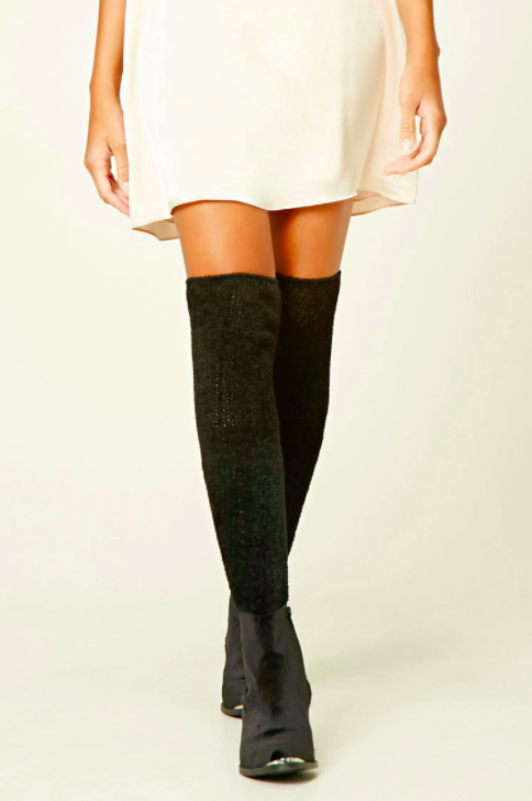 Knit Over The Knee Socks   - Ooowee these socks really make our toes curl! These are the perfect pair of fuzzy and cozy socks that we need coming in and out of ((305)) Cardio class when we're in a pinch between brunch and workout plans.      SHOP IT NOW.