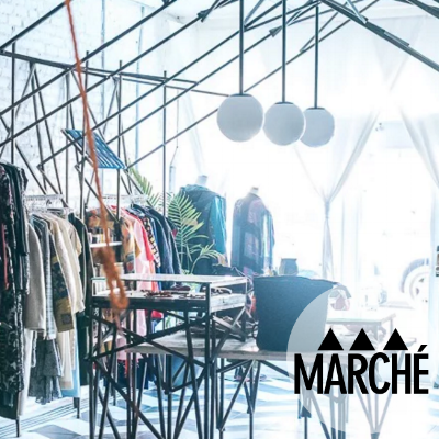 Marché Rue Dix We are OBsessed with the interior of this trendy Brooklyn shop -- and seriously coveting the clothes, bags and sunglasses that husband and wife duo Lamine Diagne and Nilea Alexander are rockin'.