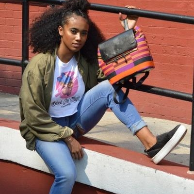 CeeCee's Closet We are crushin' hard on the African print backpacks and other accessories from sisters Chioma and Uchenna Ngwudo.