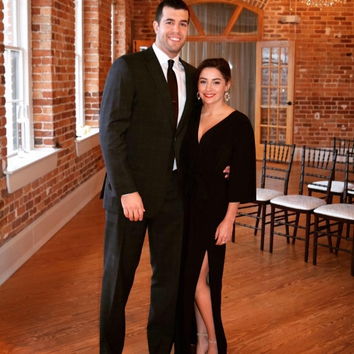 Jordan and her guy. Tall, dark, and handsome. She ain't lying...