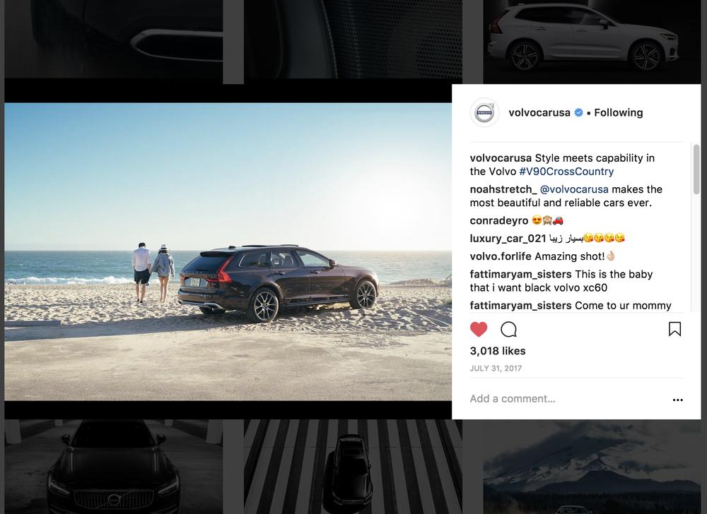 Volvo lifestyle photoshoot