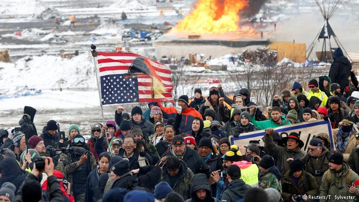 The camp at Standing Rock protesting the Dakota Access Pipeline was cleared by police last week.