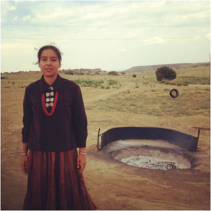 Lyla June Johnston, activist, musician, poet of Diné (Navajo) and Tsétsêhéstâhese (Cheyenne) lineages