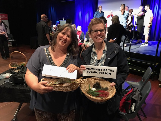 Debbie and Jana 'pitch' for funding from the Onkaparinga Council on the  Fleurieu Peninsula  for a workshop offering nature connection experiences in the Onkaparinga region of South Australia: placemaking as activating the place in people.