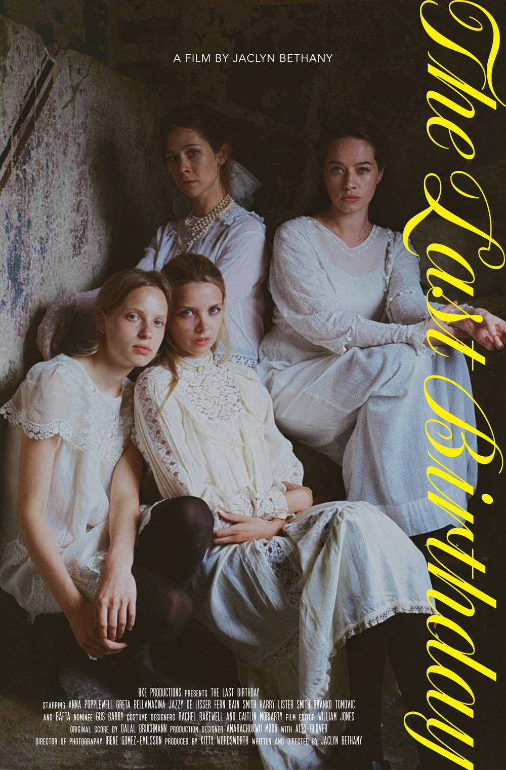Greta Bellamacina, Fern Bain Smith, Jazzy De Lisser and Anna Popplewell as sisters for Jacyln Bethany's new film The Last Birthday.
