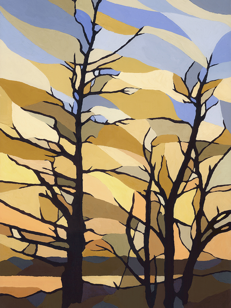 Liney Bare Trees