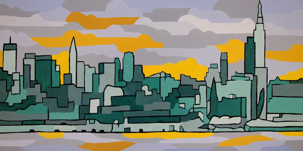 Emerald City Oil Painting