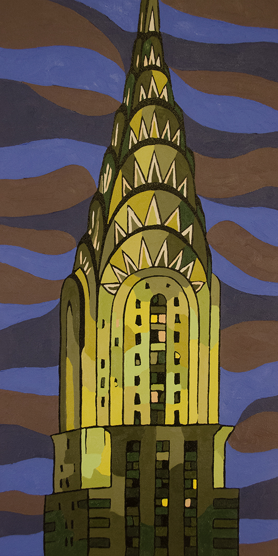 Chrysler Building at Night Canvas Art Print