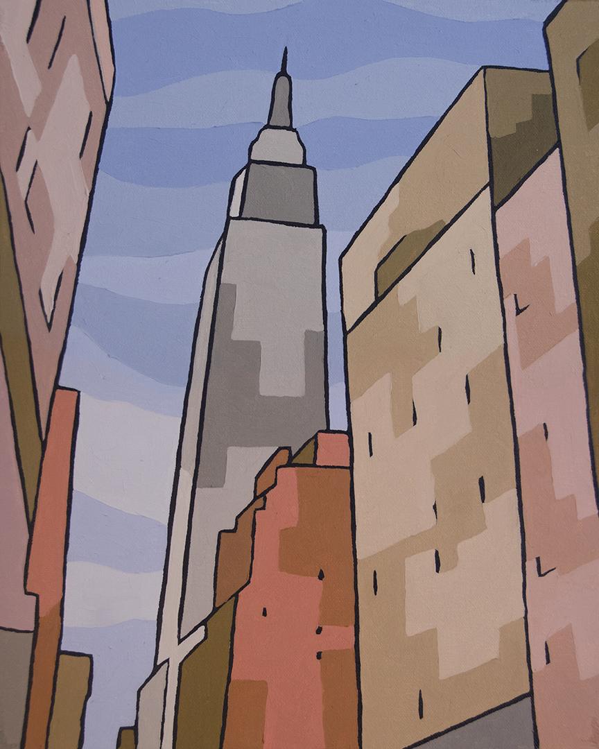 Empire State Building Block Canvas Art Print