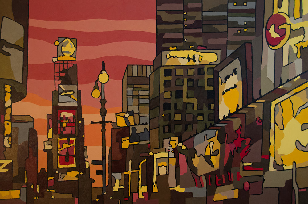 Times Square Canvas Art Prints
