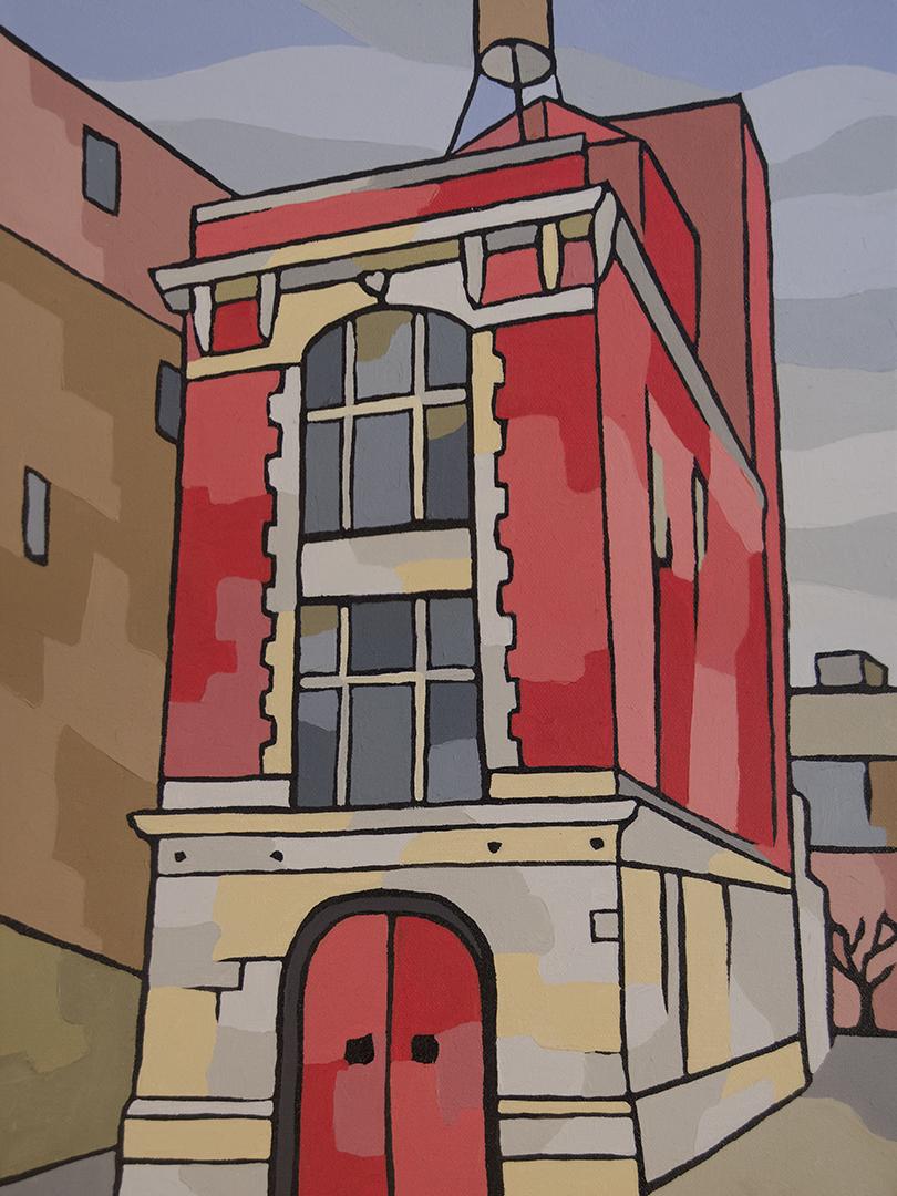 NYC Firehouse Canvas Art