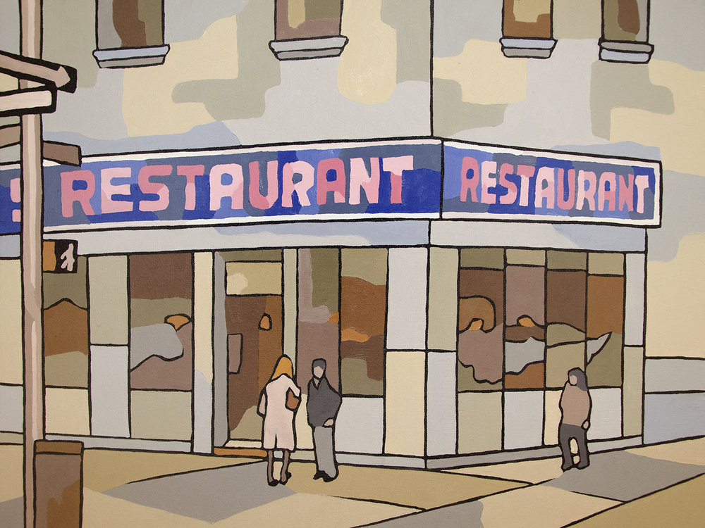 Seinfeld Restaurant Canvas Art Print