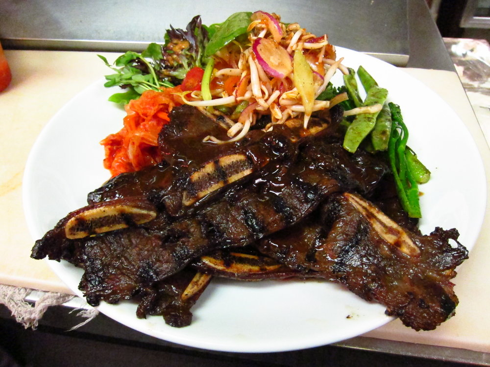 Kalbi short rib special- served with banchan