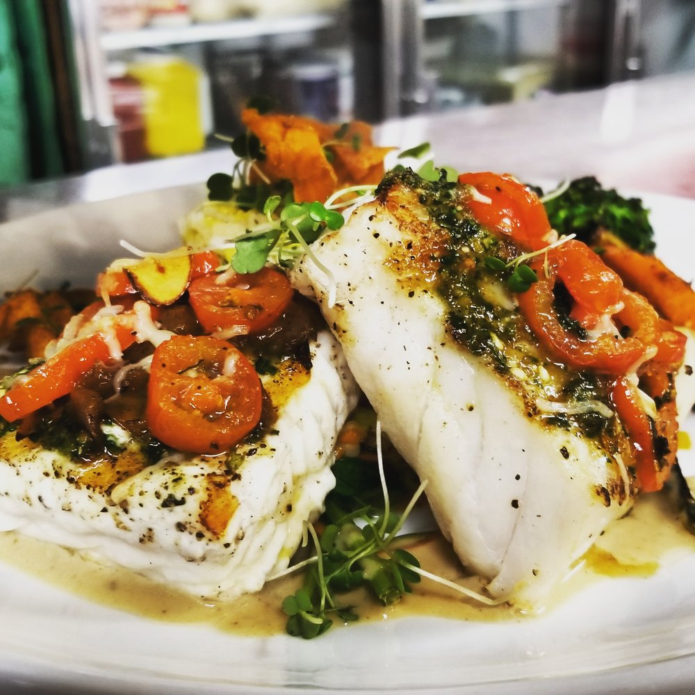 Local Halibut and Rockfish special