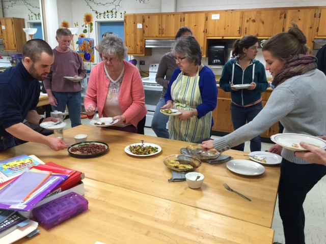 Cooking Fresh! participants tasting their delicious creations!