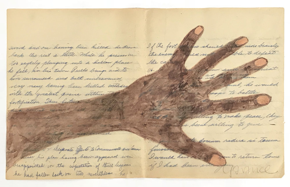 - Beautiful Musician Handc. 2012Drawing on found paper8 ½ x 13 inches