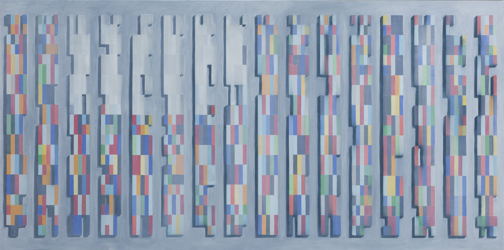 - The Meet2017Oil and acrylic on canvas48 x 100 inches