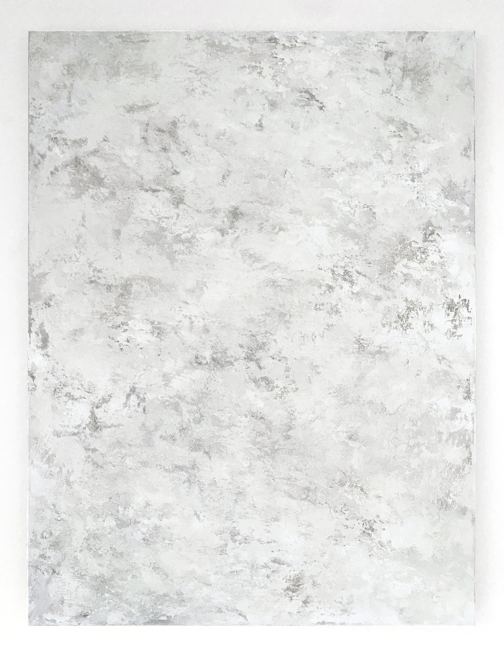 - Untitled (White Painting 18-01)2018Acrylic and concrete on linen48 x 36 inches