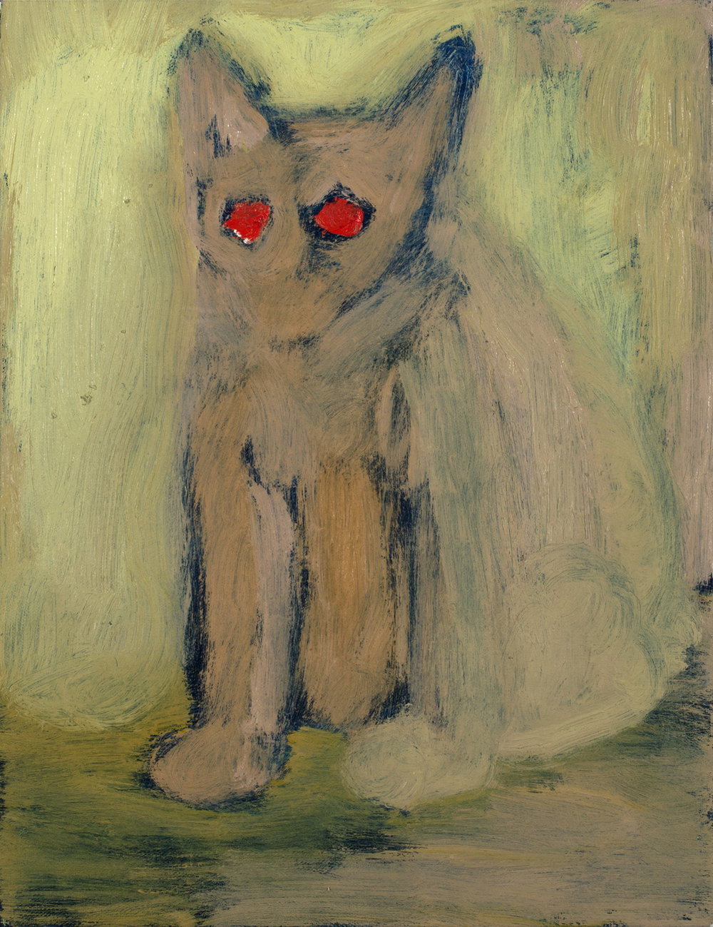 - Predator Cat2016Oil on canvas17 x 13 1/4 inches