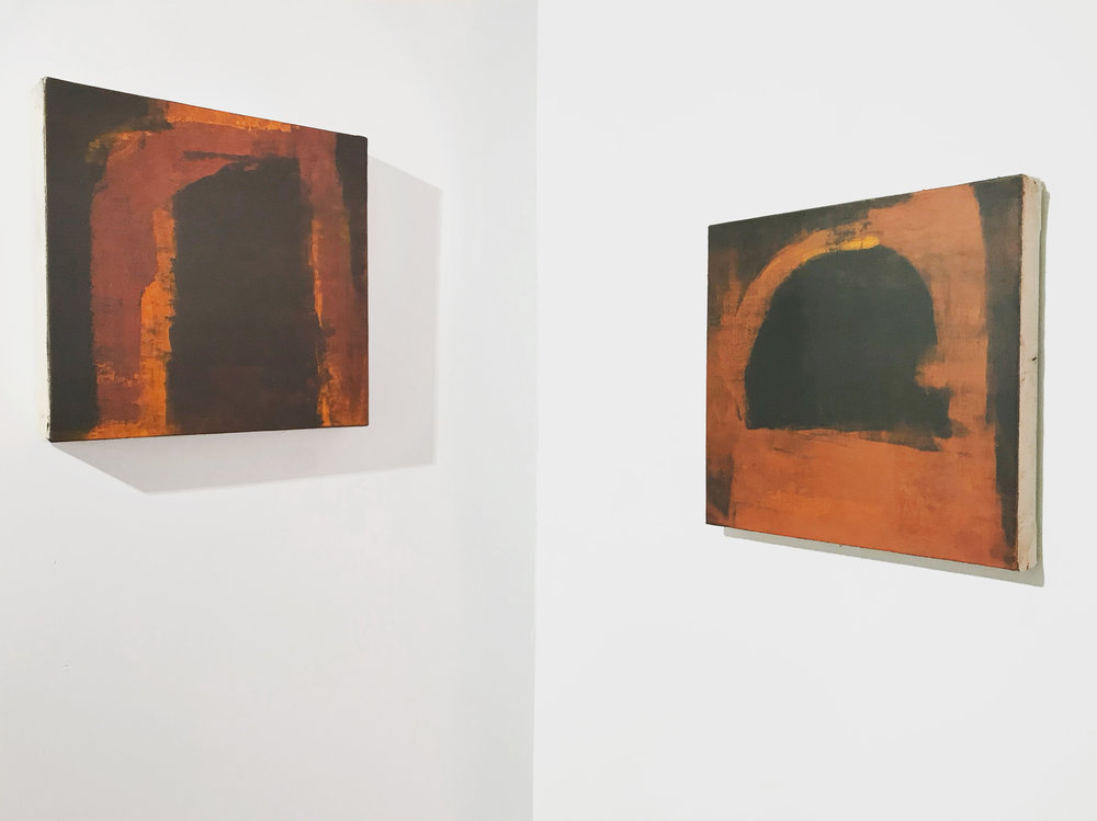- Red, Rust, Dust2017Oil and wax on canvas18 x 18 inches each